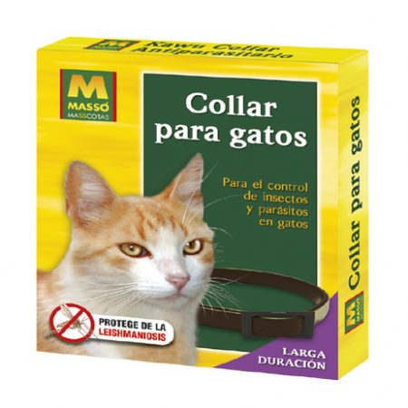 Collar antiparasitario de gatos